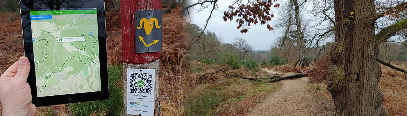 Mit der DBU-App durch die Wahner Heide wandern